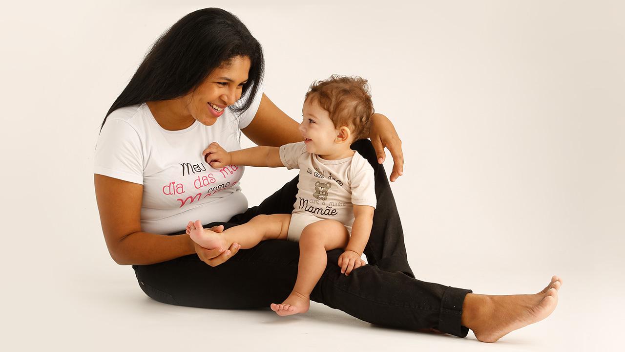 Dia das Mães com o bebê