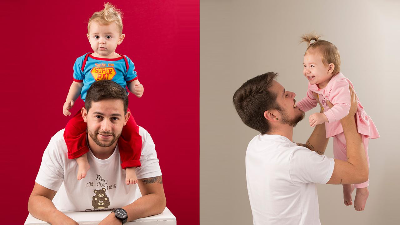 Dia dos pais com o bebê